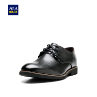 HLA/海澜之家商务舒适皮鞋2018秋季新品鞋子男士