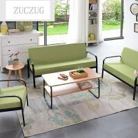 ZUCZUG简约现代小户型沙发客厅小户型三人位沙发办公室家具沙发茶几组合 (黑边)组合 单人+双人+三人+茶几