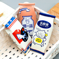 个性创意笔袋简约韩国小清新文具袋大学生大容量ins搞怪日系网红零食草莓牛奶盒男女生初中生小学生可爱笔盒
