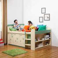 家具衣柜床儿童 多功能组合床男孩儿童床女孩储物半高床上床下柜