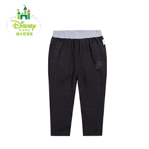 迪士尼Disney宝宝长裤休闲男女童布裤长裤外出裤春秋款163K723