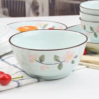 陶瓷餐具碗盘家用10人中式4.5英寸饭碗盘子组合面碗深盘18件套装 18件套装