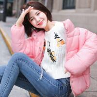 面包服外套少女秋冬装2018新款初中学生韩版轻薄羽绒短款棉衣