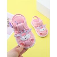 0-1-2-3岁婴儿包头软底布鞋夏季宝宝凉鞋女宝宝学步鞋叫叫鞋子