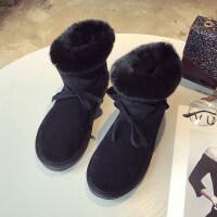 雪地靴女短筒冬季新款短靴韩版百搭学生棉鞋女加绒保暖短靴潮