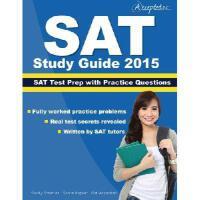 【预订】SAT Study Guide 2015: SAT Prep and Practice Questions