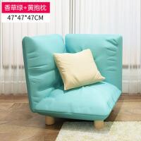 创意懒人沙发榻榻米 简约单人小沙发简易客厅地板沙发椅布艺