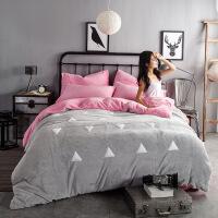???珊瑚绒四件套加厚保暖法莱绒韩版冬季被套法兰绒卡通床单纯色
