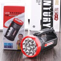 LED充电式手电筒 探照灯 手提灯 露营灯 应急灯 钓鱼灯 户外照明灯 9灯头手提探照灯