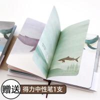 创意日记本子独自穿行彩页笔记本韩国小清新A5插画绘本记事本批发