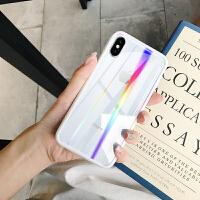 苹果6splus手机壳男女款iphone7硅胶8plus镭射透明iphonex新款6s防摔7pl