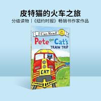 英文绘本 原版进口Pete the Cat's Train Trip I Can Read [4-8岁