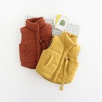 冬季新款韩版男童女童纯色系带时尚加厚保暖棉马甲背心B3-T24