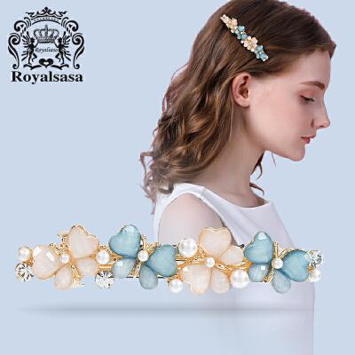 皇家莎莎发夹发卡头饰品蝴蝶横夹顶夹一字夹刘海夹马尾夹弹簧夹饰品