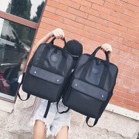 时尚潮流书包韩版男女双肩包男15.6寸电脑包旅行包高中学生背包男