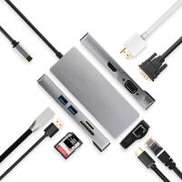Type-c扩展坞USB-C转接头HDMI线VGA笔记本USB连网线PD雷电3苹果联想Thinkp
