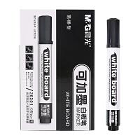 文具白板笔黑色可擦可加墨水单头办公用品10支/盒 AW26301 10支装