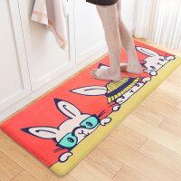 卡通可爱萌兔地垫进门卫浴脚垫门垫吸水浴室防滑垫地毯卧室可机洗 同桌萌兔