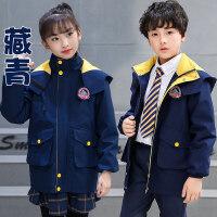 幼儿园园服秋冬装儿童班服外套加厚运动服秋季英伦小学生校服棉衣