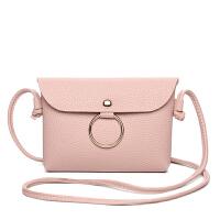 新款时尚简约圆环单肩女士小包包迷你斜跨手机包小零钱包包横环