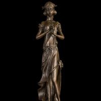 工艺品摆件 礼品 欧式铜雕 家居酒店装饰 吹笛少女 * 礼物 装饰摆件 创意家 吹笛少女