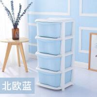 家居生活用品北欧多层收纳箱塑料整理箱简易衣服衣柜玩具收纳抽屉式带轮储物柜