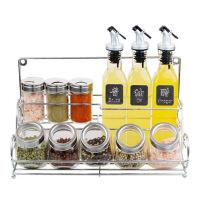 厨房用品玻璃调味瓶调料盒酱油醋壶储物瓶套装厨房置物架