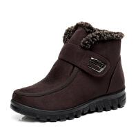 冬款雪地靴女中老年短靴子老北京布鞋女妈妈棉鞋软底保暖加绒