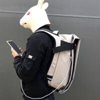 20180630134431030时尚潮流男电脑双肩包背包男欧美学生帆布包书包男防水旅行运动包