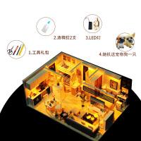 diy小屋手工创意阁楼小房子模型别墅拼装玩具制作生日礼物女