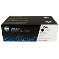 惠普原装正品 hp CB436A双只装黑色激光打印硒鼓 hp36A墨粉盒 惠普hp LaserJet P1505 P1