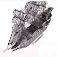 拼装海盗船DIY船舶模型益智玩具拼图全金属3D立体拼装模型