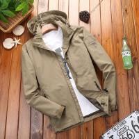 冲锋速干衣单层薄款男装吉普盾大码休闲户外风衣春秋韩版运动外套
