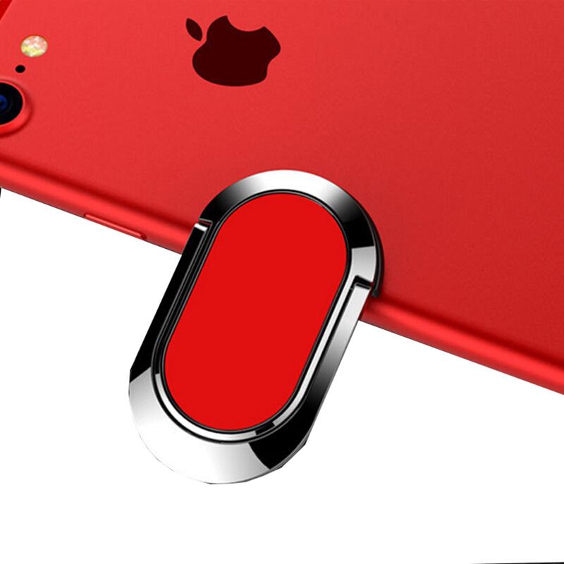 金属质感手机扣指环扣环通用支架车载磁吸苹果7手环扣指扣 椭圆强力吸磁 红色 需要发票、大件运费请联系客服,更多优品优惠等您来选购!