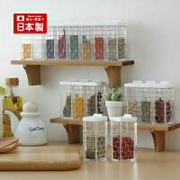 inomata日本进口迷你型调料盒香料盒小号透明塑料调味瓶厨房用品