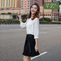 【直降3折到手价:82元】很仙的上衣洋气衬衫2019夏季新款轻熟气质配裙子的小衫白色雪纺衫