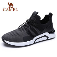 camel 骆驼男鞋时尚运动休闲飞织网布低帮跑步男鞋子
