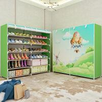 思故轩简易鞋架 多层家用收纳鞋柜布艺简约现代经济型防尘鞋架子