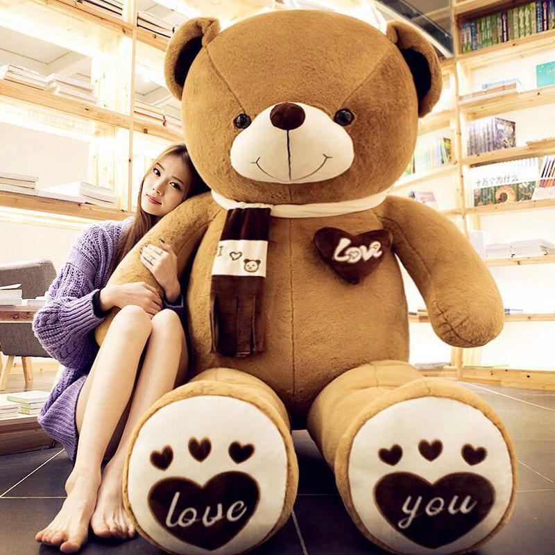 泰迪熊猫公仔抱抱熊女生布娃娃大号玩偶毛绒玩具熊送女友生日礼物 定制