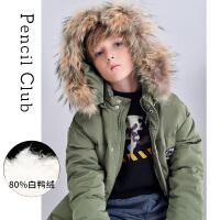 【3件价:219.9元】铅笔俱乐部童装2019冬季新款男童羽绒服中大童防风羽绒外套