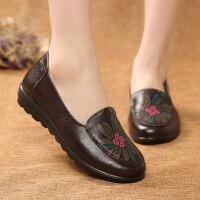 中老年鞋女秋季妈妈鞋软底女式老鞋防滑舒适奶奶鞋女平底