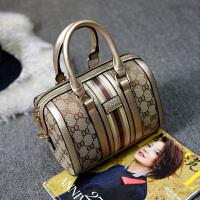 欧美时尚波士顿包手提包单肩包圆桶包斜挎包大包包枕头包