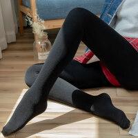 螺纹打底裤女薄款外穿秋冬黑色裤子女竖条显瘦加绒加厚肉色裤袜