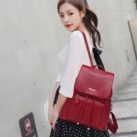 真皮双肩包女韩版潮2017新款个性时尚女士包包休闲百搭软牛皮背包