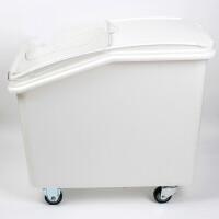 0721195402629商用塑料可移动米桶白糖粮食储存储干货糖豆类果仁海味面粉车