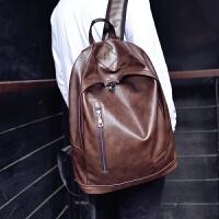 新款男士小背包韩版女双肩包男包休闲学生书包旅行包pu皮电脑包潮