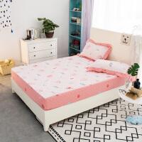 策序家纺 全棉加厚夹棉床笠单件1.8席梦思1.5床垫保护套床罩床垫套