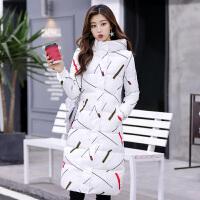 反季冬季羽绒棉衣女长款过膝加厚韩版修身显瘦外套潮 X