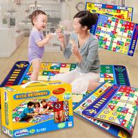 2-3-4岁儿童桌游亲子玩具 大号飞行棋地毯游戏毯爬行垫