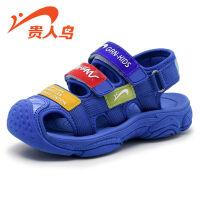 【1件2折价:55】贵人鸟男童凉鞋包头2019新款儿童鞋子韩版小孩小童软底夏季女童鞋